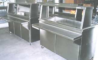 Muebles de acero inoxidable a la medida for Muebles para bano acero inoxidable